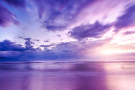 The sunrise and the sea