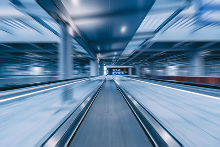 Photo for travelator with motion blur - Royalty Free Image