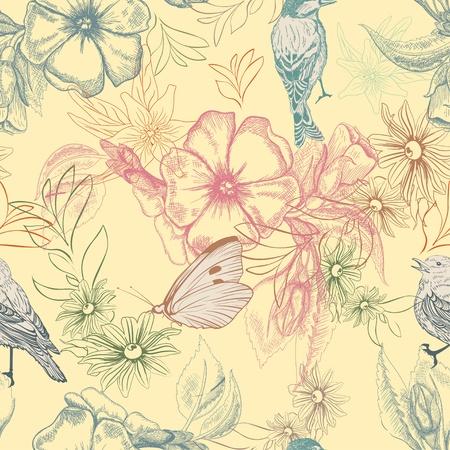 Spring Woodland Pattern Wallpaper