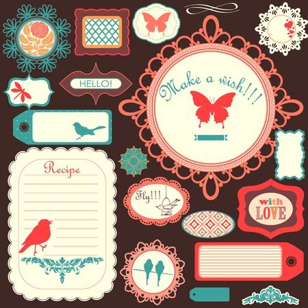 Ilustración de Cute scrapbook childish set - Imagen libre de derechos