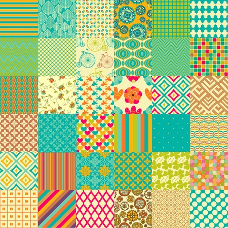 Photo for Set of seamless childish patterns - Royalty Free Image