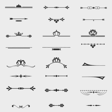 Ilustración de Collection of twelve vintage frames for design - Imagen libre de derechos