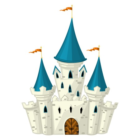 Illustration for Vector cartoon fairytale castle - Royalty Free Image