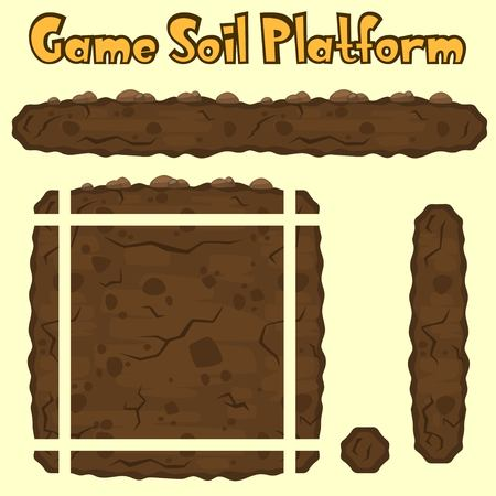 Vector soil platform texture for games