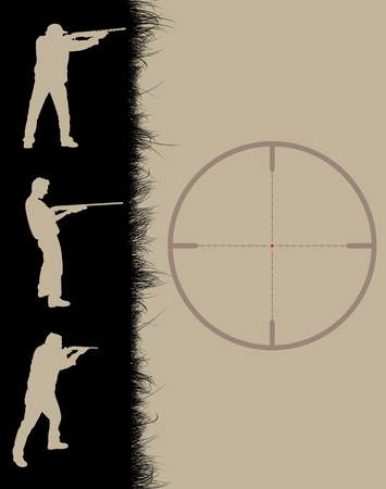 Hunter's frame with sniper sights, vector illustration