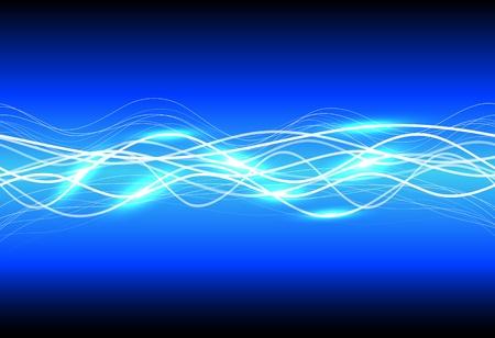 Abstract magic light on blue