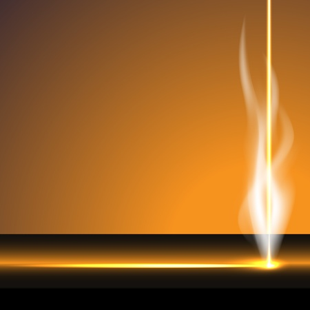 Laser cutter, smoke, vector illustration, eps10, easy editable, 2 layers