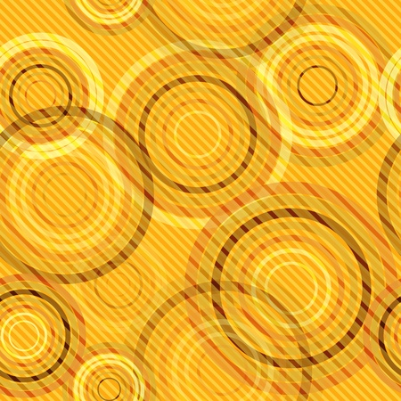 Abstract seamless retro background made of rings and diagonal lines, vector illustration, eps10