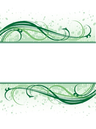 vector green abstract floral grunge pattern background