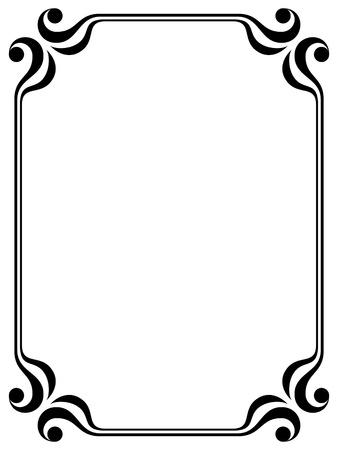 Illustration pour simple calligraph ornamental decorative frame pattern - image libre de droit