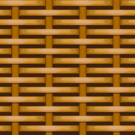 woven wicker rail fence seamless background