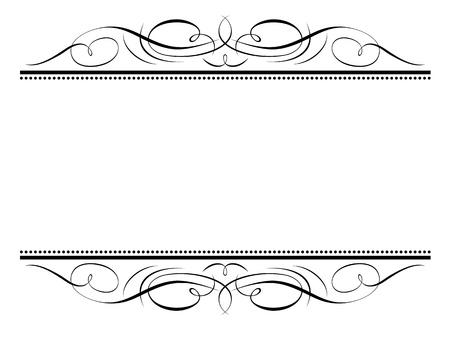 Illustration for Vector calligraphy vignette ornamental penmanship decorative frame - Royalty Free Image