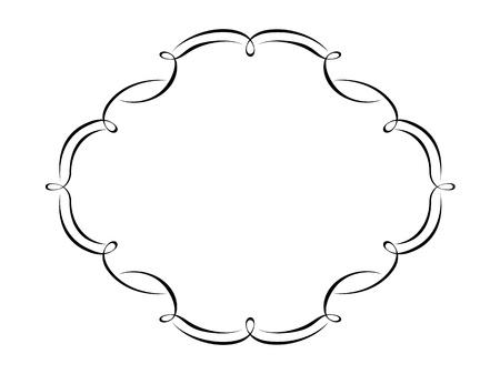 Vector calligraphy penmanship ornamental deco frame pattern