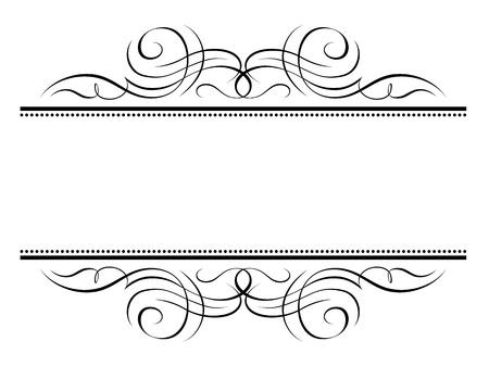 Vector calligraphy vignette ornamental penmanship decorative frame