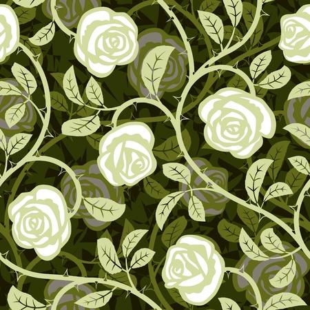 Illustration pour seamless abstract romantic rose white background design pattern - image libre de droit