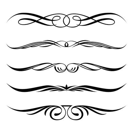 Illustration pour set of decorative elements, border and page rules frame - image libre de droit