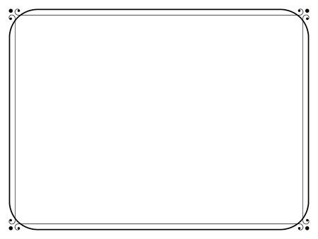 Illustration for Vector simple black calligraph ornamental decorative frame pattern - Royalty Free Image