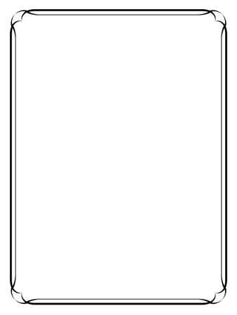 Illustration pour simple calligraph black ornamental decorative frame - image libre de droit