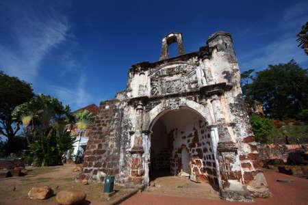 Historical A Famosa Fortress Malacca Malaysia