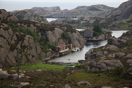 Houses on the rocks, Norway