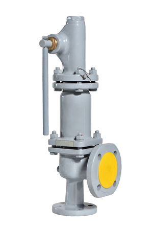 Photo pour Automatic gray safety valve for water supply systems.. Spring valve - image libre de droit