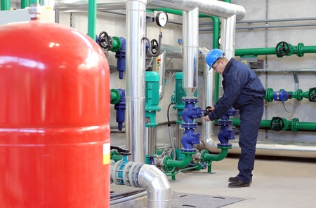 Worker control devices in Heating and Power Plant