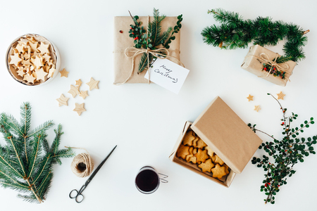 Accessories for packing Christmas presents