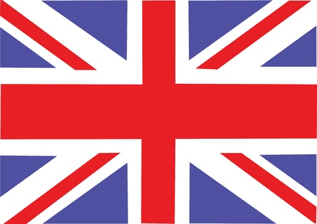 Great Britain flag  Vector illustration