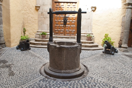 old well ,made of stone and wood