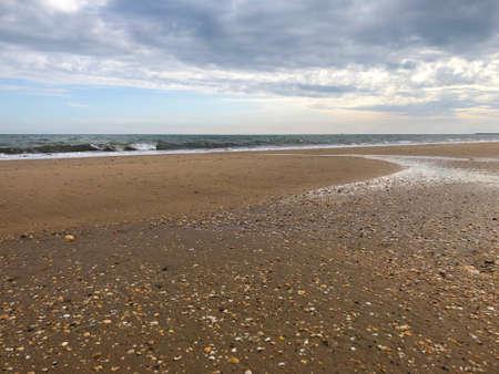 Foto de general view of isla cristina beach - Imagen libre de derechos