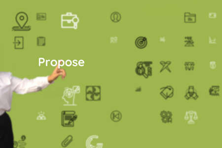 Propose current as to want, quest, commitment, direction, tend, place, pursue