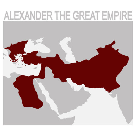 vector map of alexander the great empire
