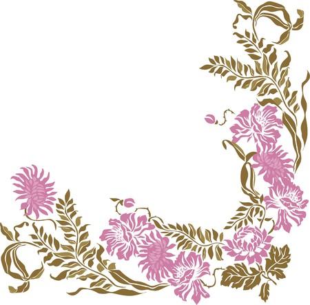 Illustration for  Floral Vintage frame element - Royalty Free Image