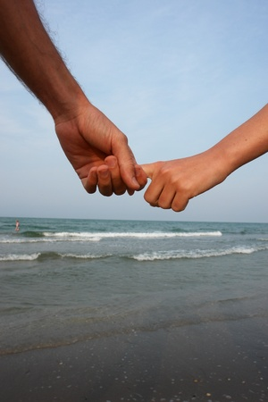 hands on the beach............
