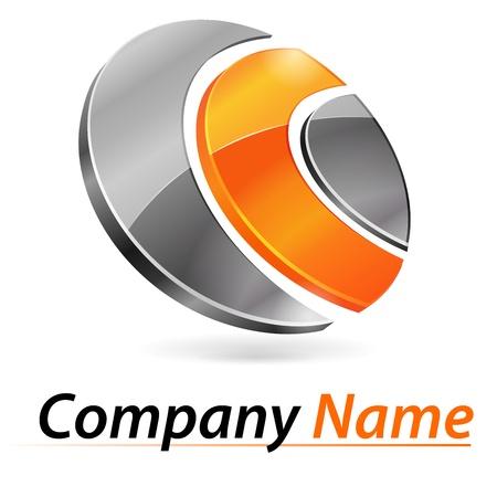 Illustration pour Logo 3d branding - image libre de droit
