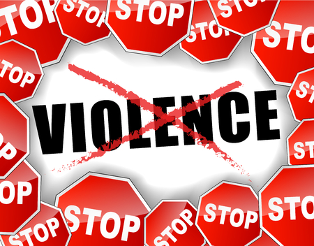 Abstract vector illustration for stop violence background