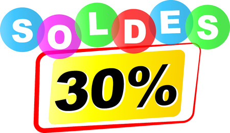 Vector illustration of thirty percent sale icon on white background