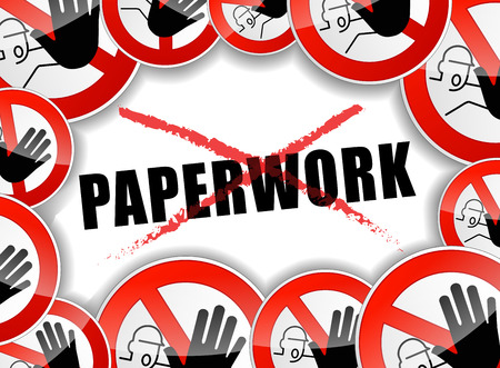 illustration of no paperwork abstract concept background