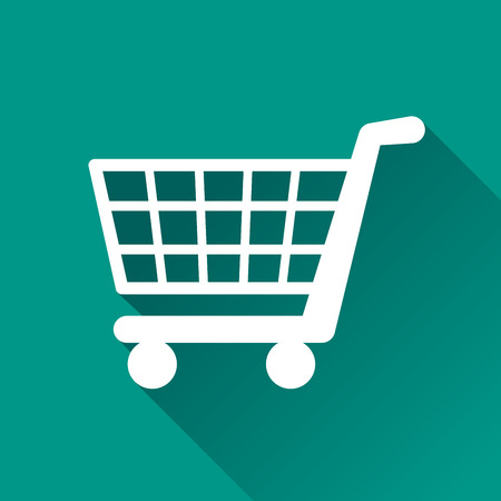 Ilustración de illustration of shopping flat design icon isolated - Imagen libre de derechos
