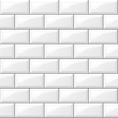 Ilustración de Illustration of rectangular horizontal white tiles background - Imagen libre de derechos