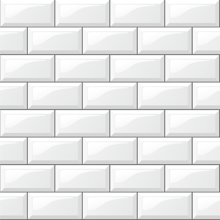 Illustration pour Illustration of rectangular horizontal white tiles background - image libre de droit