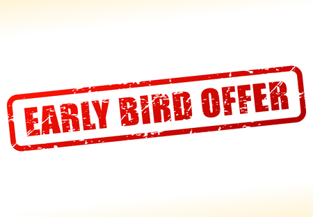 Illustration pour Illustration of early bird offer text buffered - image libre de droit