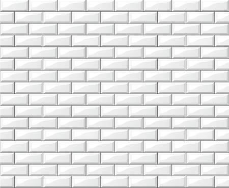 Illustration pour Illustration of white tiles wall background design - image libre de droit