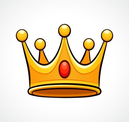 Illustration pour Vector illustration of crown on white background - image libre de droit
