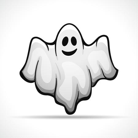 Illustration pour Vector illustration of ghost on white background - image libre de droit