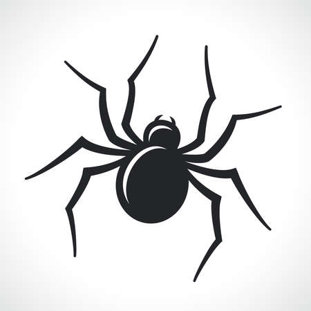 Illustration for spider black icon isolated vector illustration design - Royalty Free Image