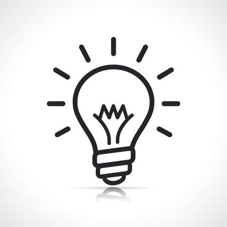 Illustration pour bulb or lightbulb icon isolated line symbol - image libre de droit