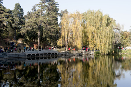 The fragrant Hills Park in autumn