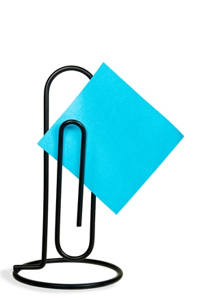 giant paper clip with square paper
