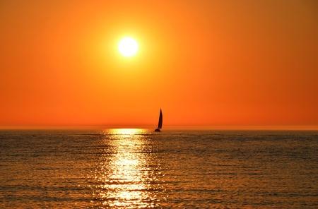 Sailboat on Lake Michigan.